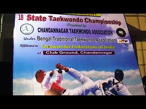 18th State Taekwondo Championship At Chandannagar West Bengal India on 14th December 2014