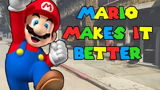 Mario Makes Video Games Better | GTA V & Minecraft