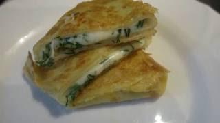 Блинчики с сулугуни и зеленью!!!Pancakes with greenery and suluguni