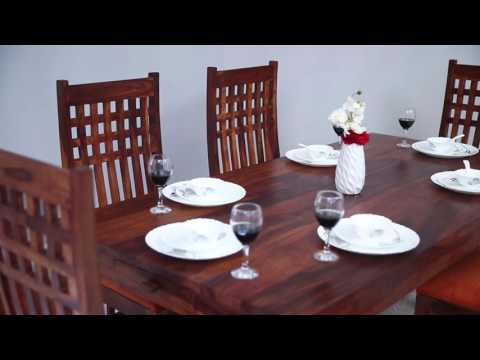 Dining Set - Alfie 6 seater dining set chair Online @ Wooden Street