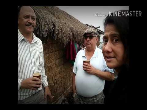 Our guest visiting floating tourist cottage @ Loktak Lake , Manipur