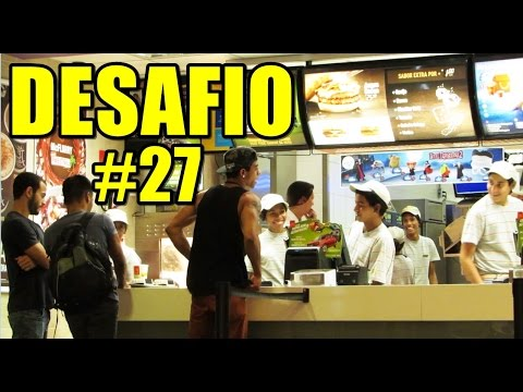 FAZENDO PEDIDO GRITANDO NO MC DONALD'S DESAFIO #27