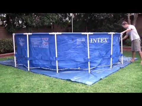 Intex Metal Frame Pools set up (pools up to 15ft) - YouTube