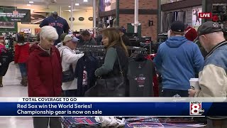 Red Sox Fans Get Hands On World Series Gear