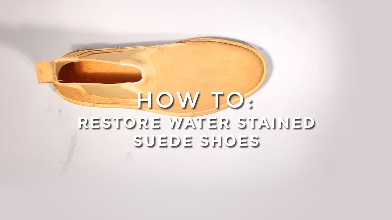 Restore Water Stained Suede Shoes