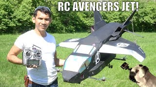 Real FLYING avengers Quinjet RC airplane
