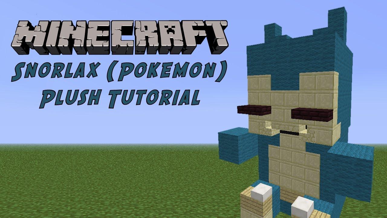 Minecraft Tutorial Snorlax Pokemon Plush Youtube