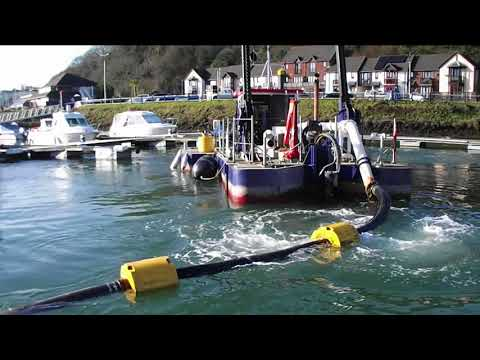 Dredging the marina with our Marina Master 8000
