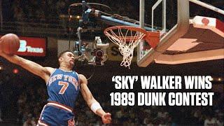 Kenny 'Sky' Walker wins 1989 NBA Slam Dunk Contest | NBA Highlights Video