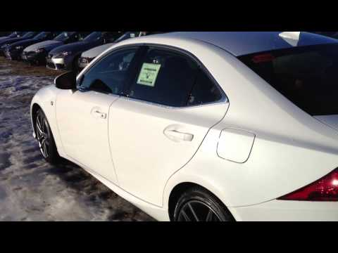 2014 Lexus IS 350 AWD Executive F SPORT Package Ultra White on Rioja Red