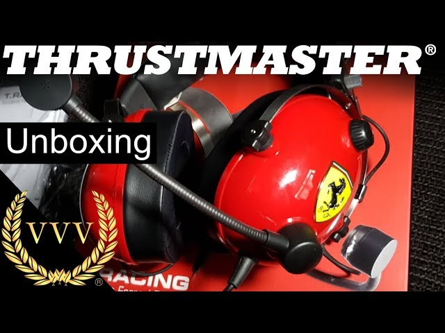 Thrustmaster T.Racing Headset - Ferrari Edition - Unboxing