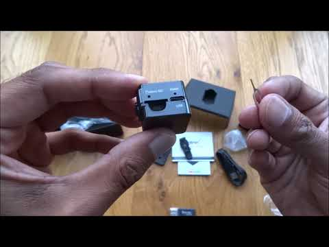 Unboxing and review of a Mini Spy Cam Hidden Camera-Conbrov T16 720P