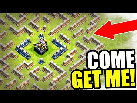 EAGLE ARTILLERY + MAZE BASE = GAME OVER! - Clash Of Clans