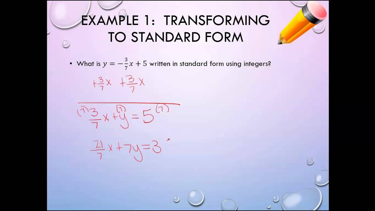 Unit 6 rewriting equations into standard form youtube unit 6 rewriting equations into standard form falaconquin