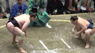 20130526 大相撲夏場所 千秋楽 琴欧洲vs鶴竜 琴欧洲カド番脱出.