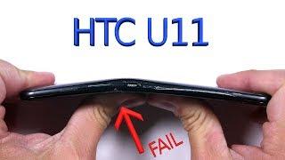 htc u11 durability test scratch burn bend test fail