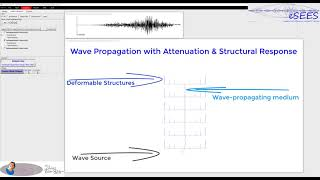 Wave-Propagation & Attenuation, with Structural Response in #OpenSees
