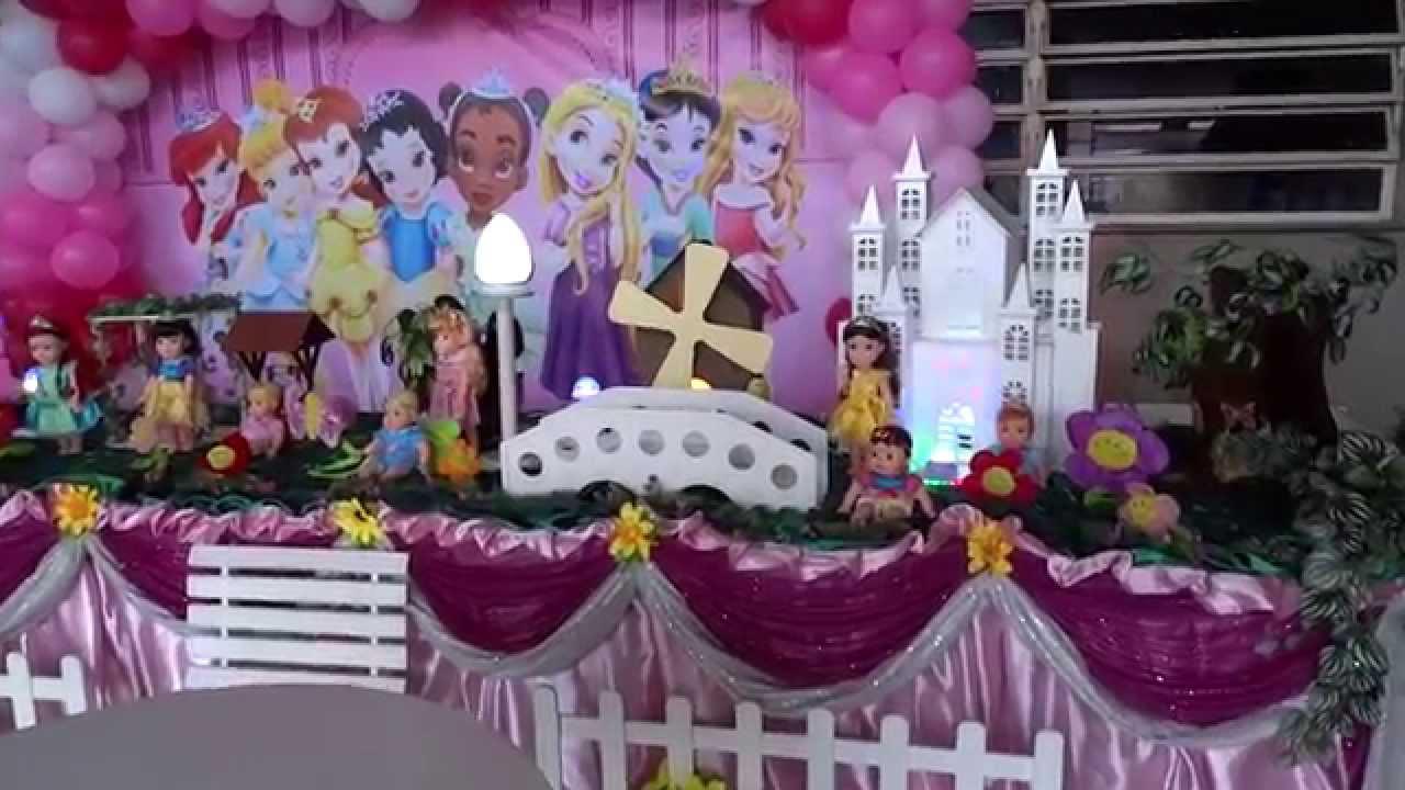Princesas Baby Disney tema para decoraç u00e3o de festa de aniversário infantil YouTube