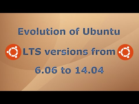 Evolution of Ubuntu LTS versions from 6.06 to 14.04
