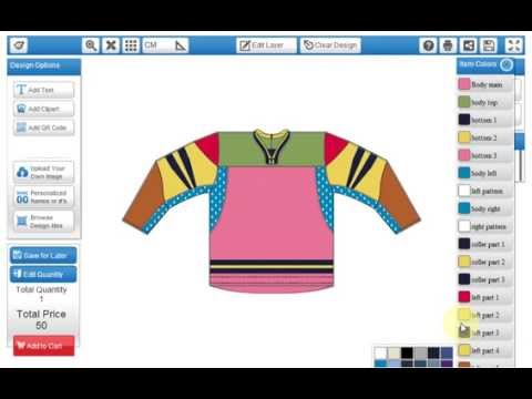 Online jersey designer software by efoli youtube for Online remodeling software