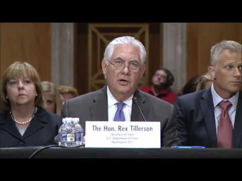 Secretary Tillerson Statement to the Senate Foreign Relations Committee