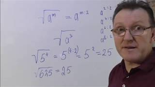 Корень из числа в чётной степени.