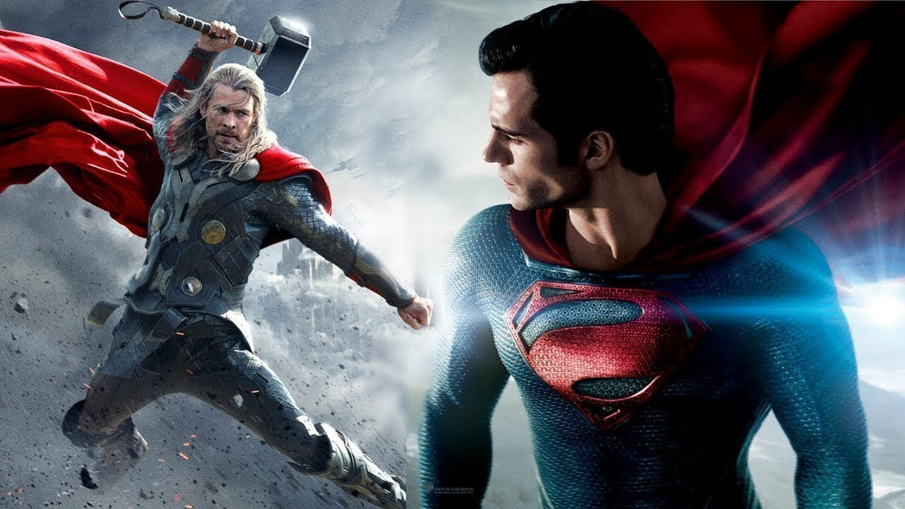Download Superman VS Thor Fight Battle Marvel VS DC Fanmade