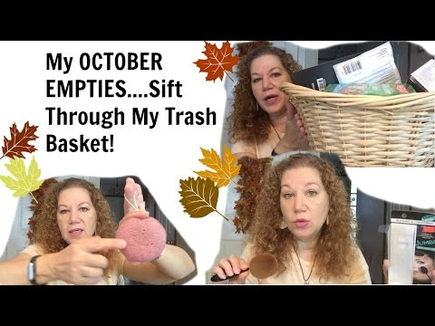 My October Empties  What Is In My Trash?