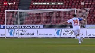Axpo Super League: Grasshoppers Zürich 2:1 FC Sion (15. Spieltag, 6.11.2011)