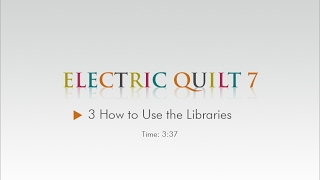 03 how to use the libraries eq7 help