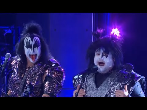 "KISS performed on ""The Late Late Show"" and James Corden gets face paint to join them..!"