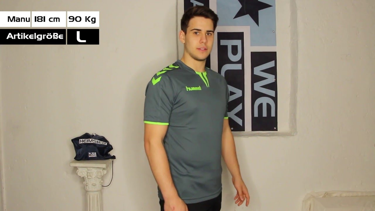 Hummel Core SS Poly Jersey - YouTube 99acb7cd1d08
