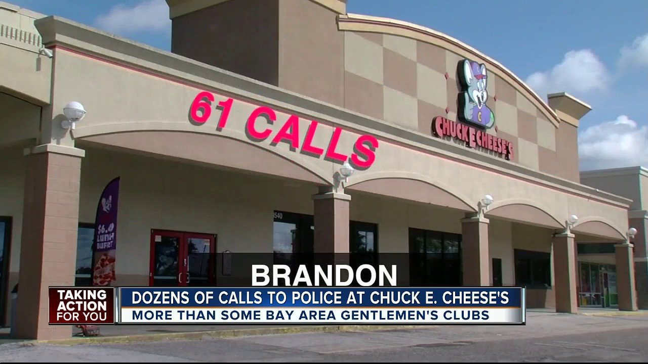 Police receive more calls from Chuck E. Cheese's than some Tampa Bay area gentlemen's club
