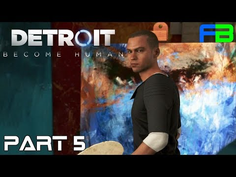 The Painter - Detroit: Become Human - Part 5: Full Gameplay Walkthrough - PS4 Pro