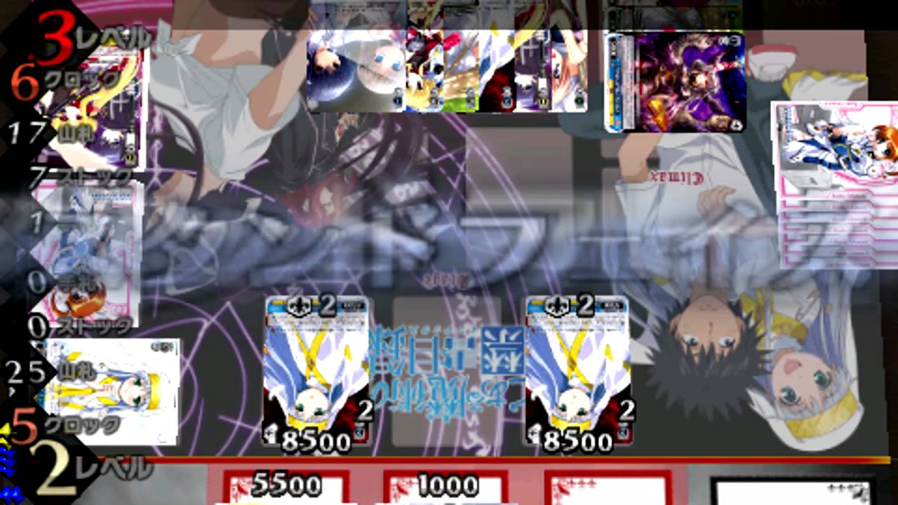 weiss schwarz portable boost weiss psp gameplay part 2 youtube