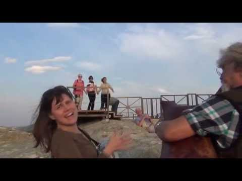 Dance to bagpipe  at the Ancient sanctuary of  Perperikon
