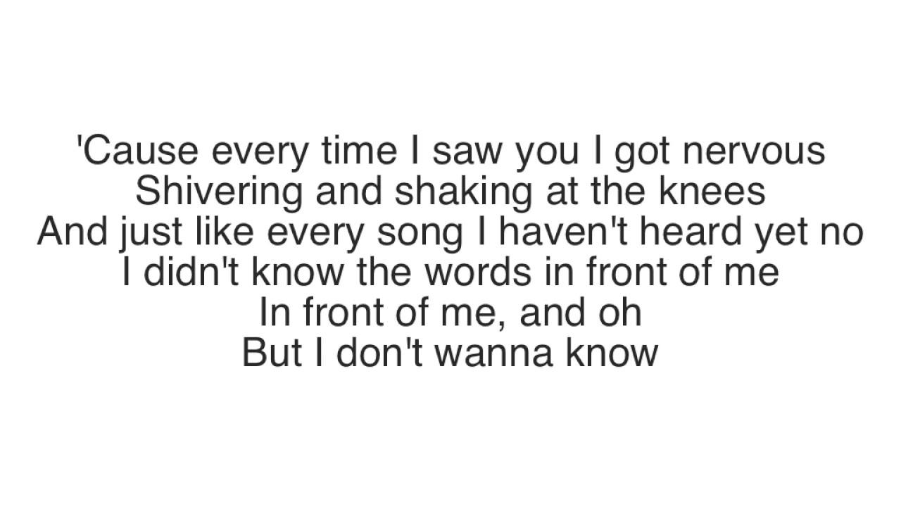gavin-james-nervous-lyrics-hannah-lyrics