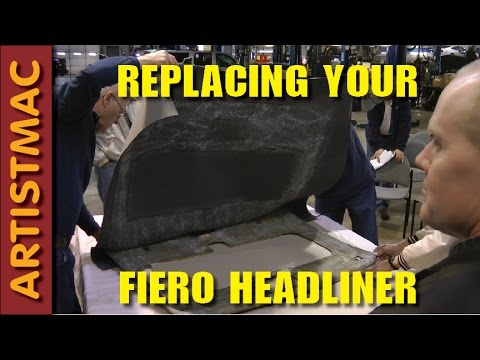 How To Replace your Sagging Fiero Headliner