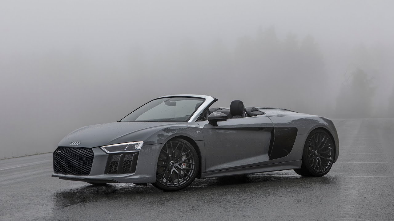 LOST IN THE FOG   2018 AUDI R8 V10 SPYDER (new Audi Sport Badge, Nardo  Gray, )