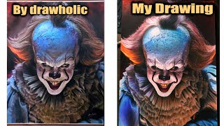 Redraw The Pennywise Drawing By drawholic | DP ART DRAWING