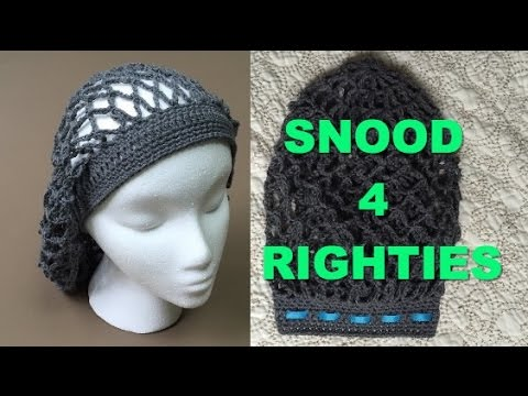 Super Easy Crocheted Vintage Snood Videotutorial 4 Righties