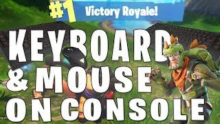 USING KEYBOARD AND MOUSE ON CONSOLE! - Fortnite Allows This??