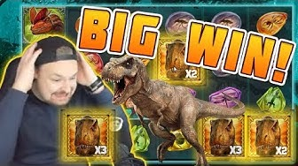 BIG WIN Raging Rex - New slot from Play'n GO - Huge win on Casino Game