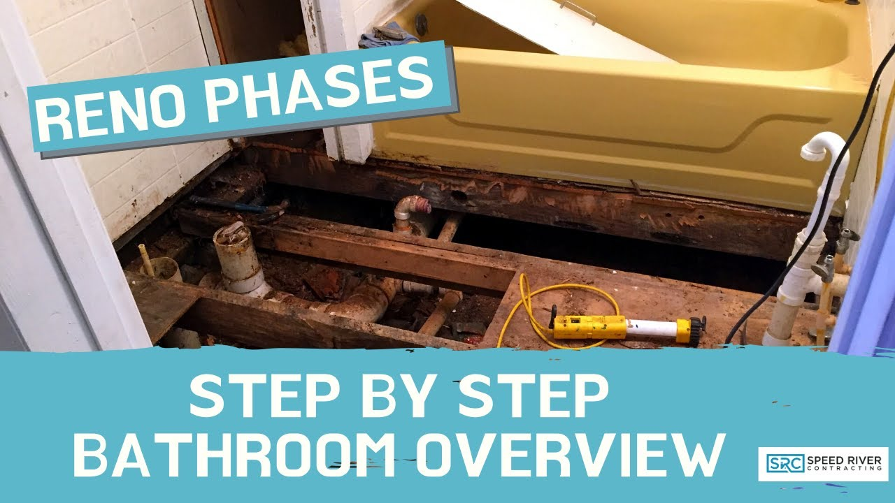Step by Step Bathroom Reno Phases