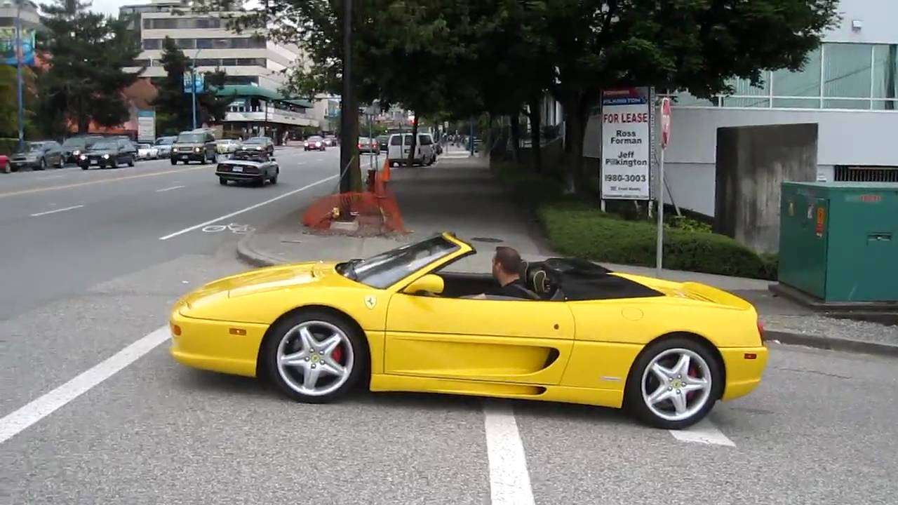 Ferrari F355 In Yellow Hard Acceleration Hd Youtube