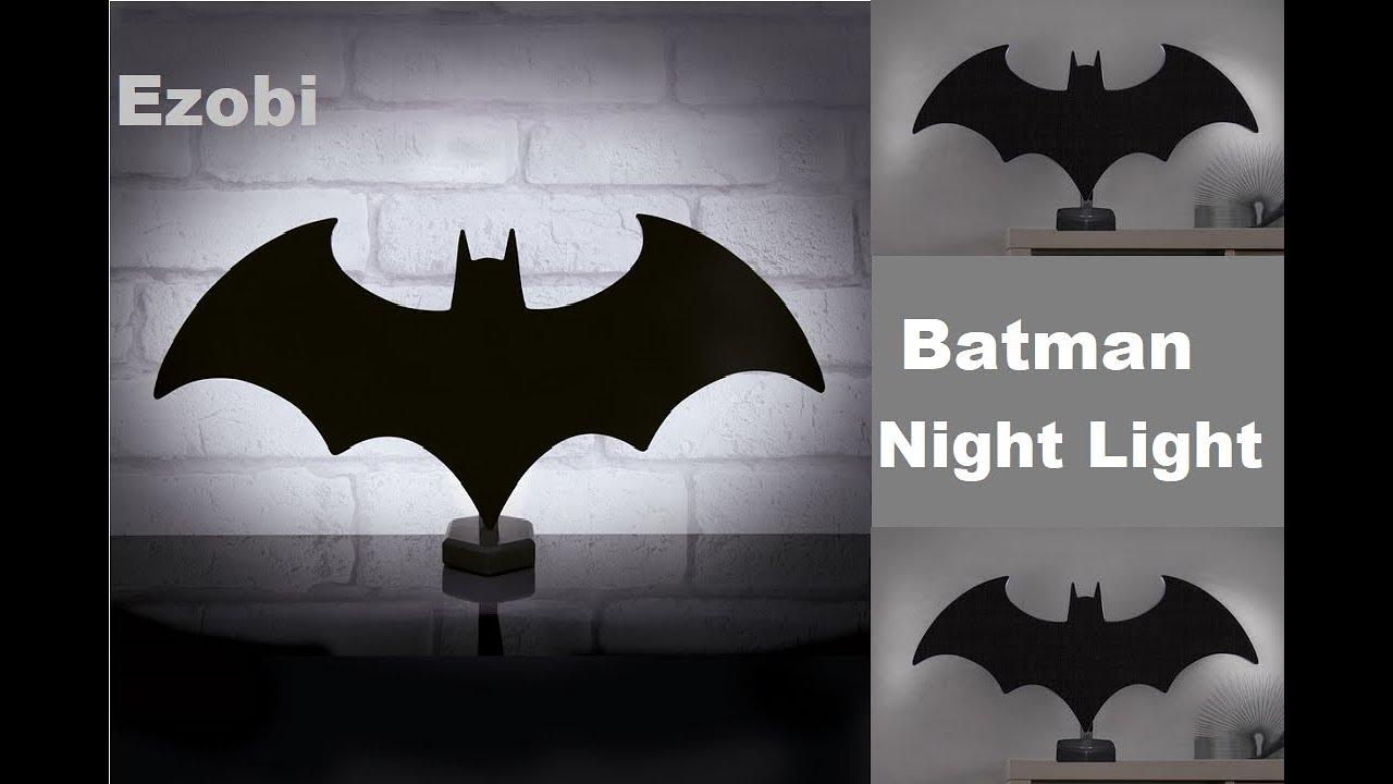 Batman eclipse night light batman wall light lamp youtube batman eclipse night light batman wall light lamp aloadofball Images