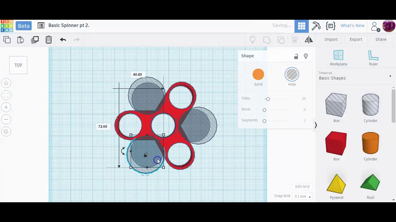 Tinkercad Basic Spinner 2 Youtube