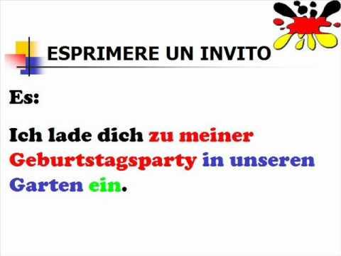 Lezioni di tedesco 41  esprimere un invito   YouTube