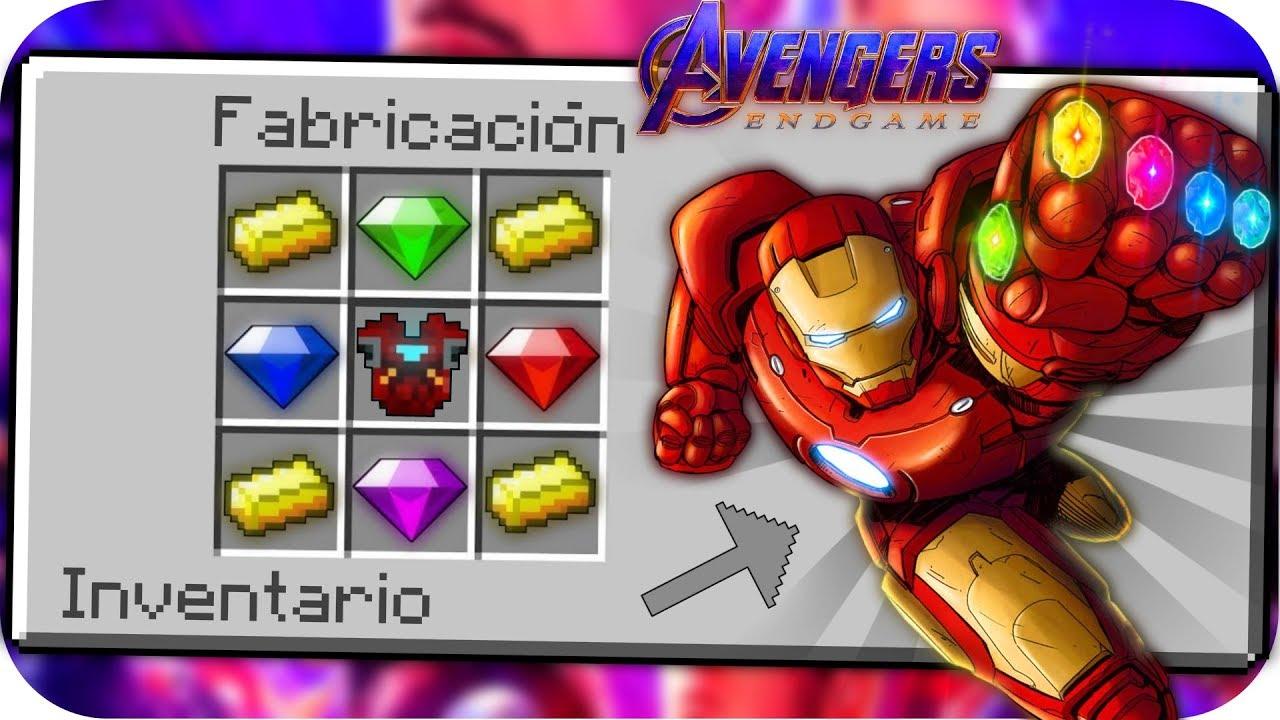Cómo Hacer El Guantelete Del Infinito De Iron Man En Minecraft Avengers Endgame Youtube