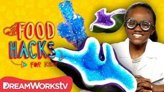 Edible Geodes and Science Snack Hacks! | FOOD HACKS FOR KIDS
